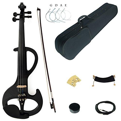 Kinglos 4/4 Colorato In Legno Massello Intermedio-A Elettrica/Silenzioso Violino Kit Raccordi Ebano - DSZA1311