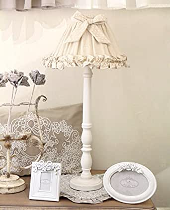 Paralume Shabby Chic Angelica Home & Country Beige a Pois Bianchi'