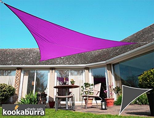 Kookaburra Voile d'Ombrage Imperméable 6,0m × 4,2m Triangle Rectangle Violet