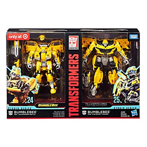Transformers Studio Series 24 and 25 Deluxe Class Bumblebee Action Figure 2-Pack