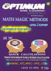 Optimum Educators Vedic Maths - Level 3 - Expert - Quick Calculations - Tricks & Shortcuts For Entrance Exams Educational DVDs