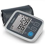 HYLOGY Misuratore di Pressione da Braccio Digitale, Sfigmomanometro da Braccio Pressione Arteriosa, Grande Schermo LCD, 2 * 90 Posizioni di Memoria (grigio)