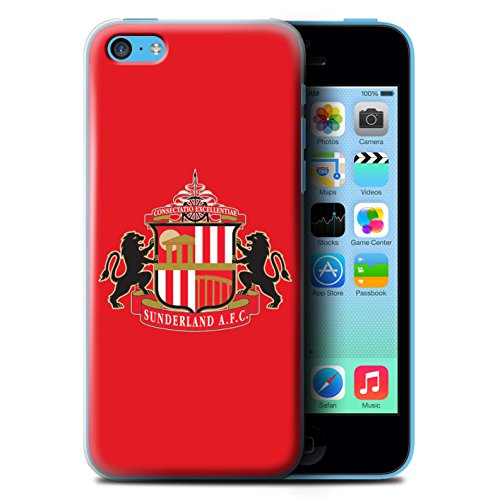 Offiziell Sunderland AFC Hülle / Case für Apple iPhone 5C / Pack 6pcs Muster / SAFC Fußball Crest Kollektion Rot