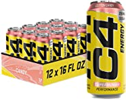 C4 Energy Carbonated Zero Sugar Energy Drink, Pre Workout Drink + Beta Alanine, Sparkling Frozen Bombsicle