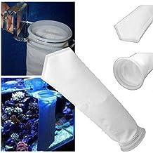 hunpta 200micras filtro calcetín bolsa para cárter de arrecife de acuario tanque de peces marinos A