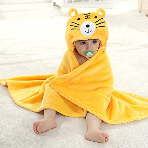 Mture-Baby-Kleinkinder-Kids-Bademantel-BabydeckeBaby-Badehandtuch-mit-Kapuze-kuscheliger-Poncho-Bademantel-aus-Mikrofaser-Warm-und-kuschelig