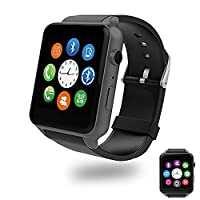 Bluetooth Smart Watch with Dual Card Slot and HD Camera,Evershop SIM Card Smart Watches with Heart Rate Monitor Touch Screen Bluetooth Sports Wrist Watch Phone for Android and IOS (Black)