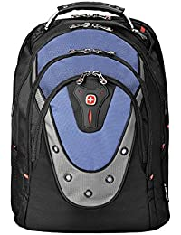 "Wenger 600638 IBEX 17"" Laptop Backpack , Triple Protect compartment with iPad/Tablet / eReader Pocket in Blue {23 Litres}"