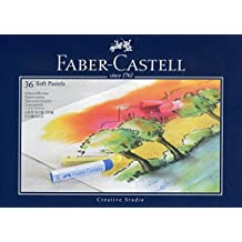 Faber-Castell 128336 - Estuche de cartón con 36 tizas pastel, multicolor