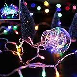 VINGO® LED Lichterkette RGB Weihnachtsbeleuchtung Mischenfarbe Christbaumschmuck für Weihnachten Halloween Party Tannenbaum Außen Schaufenster (100M 500 Leds)