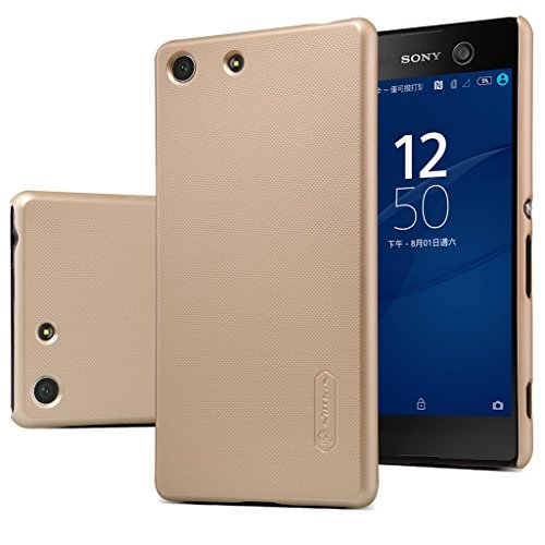 Nillkin | Frosted Hard Back Cover Case For Sony Xperia M5 Gold  available at amazon for Rs.399
