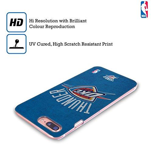 Ufficiale NBA Rovinato Oklahoma City Thunder Cover Retro Rigida per Apple iPhone 7 / iPhone 8 Rovinato