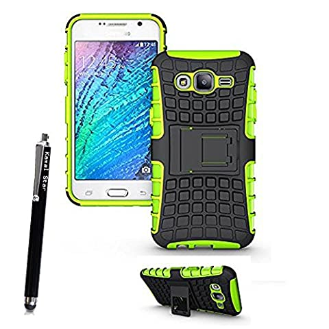 KAMAL STAR® Heavy Duty Tough Shockproof Builder Case With Stand Hard Case Cover For Various Samsung Galaxy Phones + Stylus (Galaxy S4 I9500,