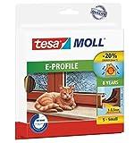 tesamoll Gummidichtung für Fenster und Türen, braun, CLASSIC, E-Profil, (20mx9mmx4mm, braun)