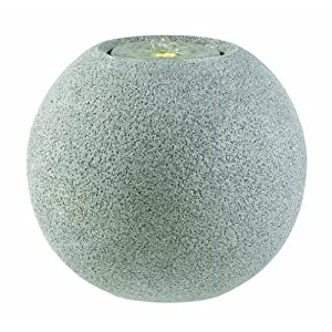 Esteras 8512320741 Fountainslite Stone Garden Fountain, Meco 41, granite grey, Ø 41 x H 36 cm