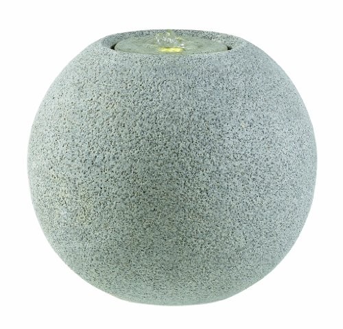 Esteras 8512320750 Fountainslite Stone Garden Fountain, Meco 50 granite grey, Ø 50 x H 44 cm