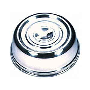 51mhH4yguLL. SS300  - Genware NEV-21483 Plate Cover, Round, Stainless Steel