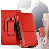 ( Red ) Yota YotaPhone 2 Hülle Abdeckung Cover Case schutzhülle Tasche Custom Made Faux Leder Holster Tasche Skin Case Cover von ONX3®