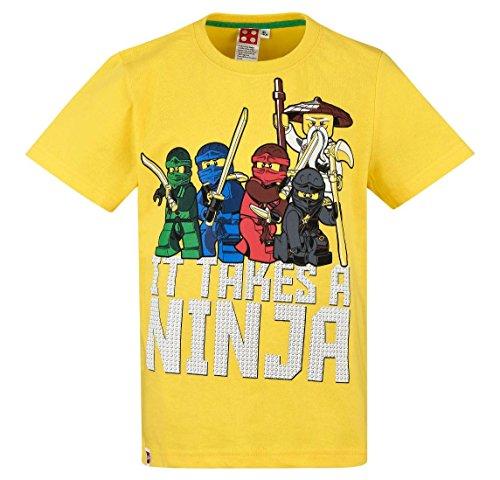 Lego Ninjago Kollektion 2018 T-Shirt 104 110 116 122 128 134 140 Shirt Jungen Neu Top Gelb (Gelb, 134-140)