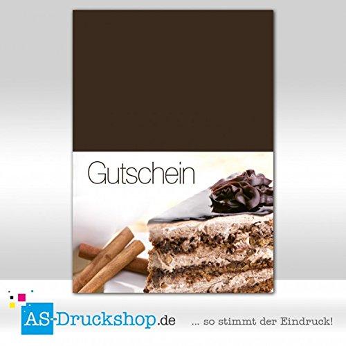 Gutschein Bäckerei Cappuccino-Torte / 25 Stück/DIN A6