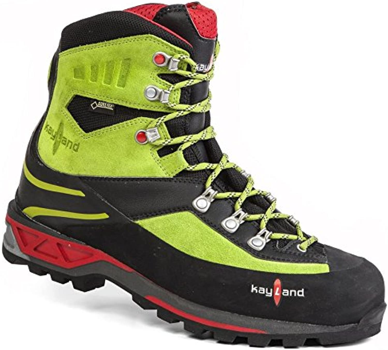 Kayland Shoes Men moutaineeering Apex Rock GTX blecl-Lime