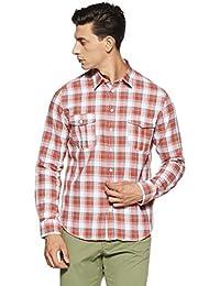 Alcott Men's Checkered Slim Fit Casual Shirt