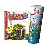 Ravensburger Kinder Sachbuch Wieso? Weshalb? Warum? | Wir entdecken die Riesenfahrzeuge + Kinder Weltkarte Poster by Collectix