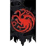 Juego de Tronos Wall Banner, Juego de Tronos flas de Pared, Regalo de cumpleaños, 65X100CM - Targaryen Bandera