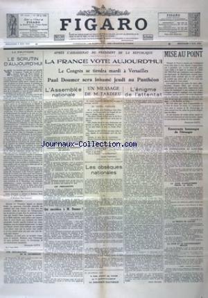 FIGARO (LE) [No 129] du 08/05/1932