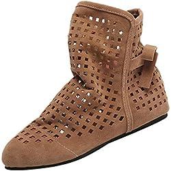 POLPqeD Zapatos Mujer otoño 2018 Botines Mujer de Vestir Planas Botines con Flecos Otoño Invierno Calzado Bowknot Zapatos Botines Mujer Planos Botines de Mujer Planos Botines Flecos Botas Flecos