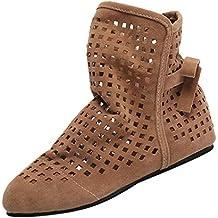 POLPqeD Zapatos Mujer otoño 2018 Botines Mujer de Vestir Planas Botines con Flecos Otoño Invierno Calzado