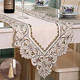 Multi-Table Caminos de Mesa Table Cloth Manteles Bordado Hueco jardín Mantel Tela de la Mesa de Centro Tela Gris 40 * 196cm