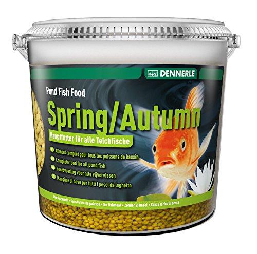 Dennerle Spring/Autumn Pond Fish Food Aliment Complet pour Poisson Seau de 5 L