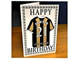 PREMIER LEAGUE FOOTBALL CLUB BIRTHDAY CARDS - ANY NAME, ANY NUMBER, ANY TEAM - BRAND NEW ACRYLIC SHIRT DESIGN!!