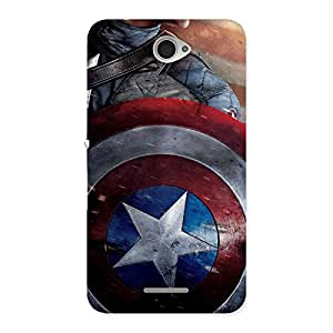 Enticing Round Multicolor Shi Back Case Cover for Sony Xperia E4