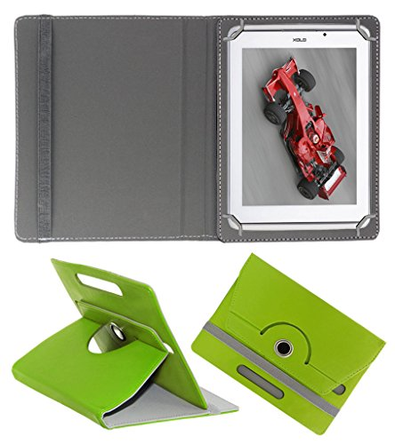 Acm Rotating 360° Leather Flip Case For Xolo Qc800 Tablet Cover Stand Green  available at amazon for Rs.159