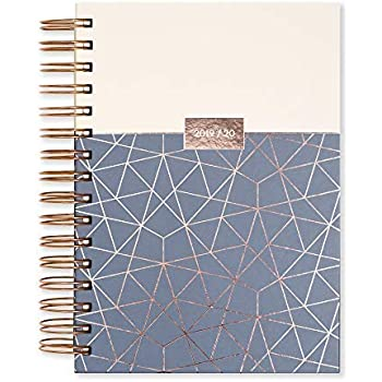 Matilda Myres Tulip A6 Page a Day Academic Diary Plum 2019-2020 Plum Color