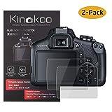 kinokoo Pellicola in vetro temperato per Canon Clear Screen Pellicola per Canon Senza bolle/Antigraffio (2 pezzi)
