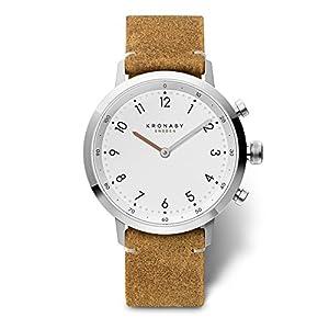 KRONABY SEKEL Connected Herren Uhren A1000-3128 eine traditionelle Uhr mit Smartwatch Funktionalitäten 41 mm Gehäusedurchmesser Saphirglas 100 M wasserdicht