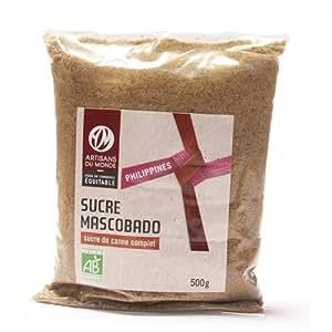 Sucre de Canne Complet Mascobado 500 g bio et équitable