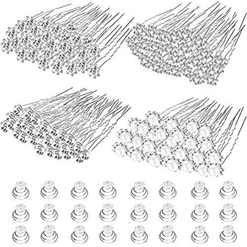 52pcs Hochzeit Haarnadeln Perlen Blumen Haarschmuck Haarspang Brautschmuck für Brautfrisur Kommunion Konfirmation Taufe Party
