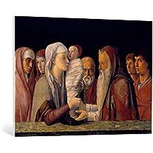 """Cuadro en lienzo: Giovanni Bellini """"Presentation in the Temple"""" - Impresión artística de alta calidad, lienzo en bastidor, 95x70 cm"""