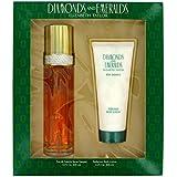 DIAMONDS & EMERALDS By Elizabeth Taylor Gift Set -- 3.3 Oz Eau De Toilette Spray + 3.3 Oz Body Lotion For Women
