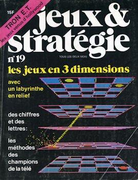 Jeux et stratégie n° 19 - Les jeux en 3 dimensions - Jeu en encart : Double-jeu - Dossier sur les jeux issus du cinéma américain (Science Fiction) par COLLECTIF