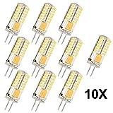 10X 3 Watt Energiesparende Glühbirnen G4 AC/DC 12V 48 SMD 3014 LED Lampen-LED Lampen leuchten Ersatz für 30W Halogen-Lampe (Warmweiß)