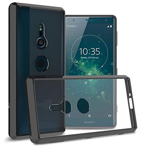 Sony Xperia XZ2Fall, coveron [Clearguard Serie] Slim Fit Handy Abdeckung mit Transparent Hartschale und TPU Stoßstangen für Sony Xperia XZ2, Schwarz (Boost Sony-handys Mobile)