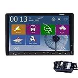 Autoradio R¨¹ckfahrkamera-CD mit LED Nachtsicht-Windows-WINCE USB / SD 8 Doppel-DIN 7 Zoll 2 Din Audio-TFT-Bildschirm in der Schlag Multi-Media-Car DVD-Player SD-GPS Karte Grafikkarte mit 4 GB ¨¹blichen SD-Karte VCD HD Sender HD Receiver