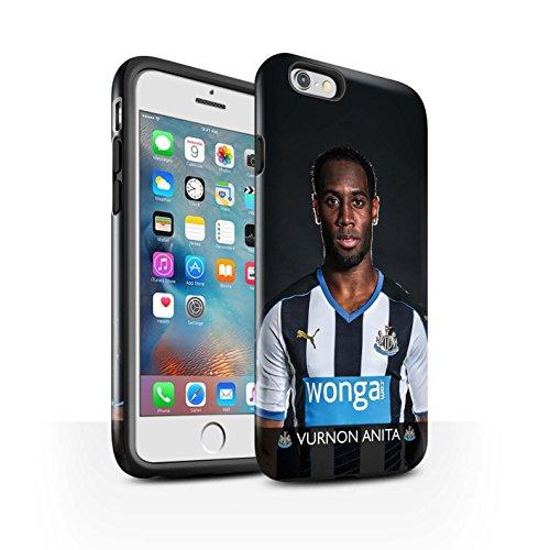 Offiziell Newcastle United FC Hülle / Glanz Harten Stoßfest Case für Apple iPhone 6S+/Plus / Pack 25pcs Muster / NUFC Fussballspieler 15/16 Kollektion Anita