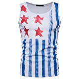 Männer American Flag Printing Sleeveless Athletic Weste Shirts Tops