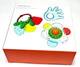 Mothercare Tiny Teeth 3 Stage teether Set -Stage 0 from Birth Water Filled Teether- Stage 1 is from 6+ - Fruit Shaped Teether Stage 2 is from 9+ Musical Rattle Teether Boys or Girls Teethers